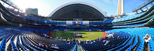 Rogers Centre Panorama - Toronto Blue Jays Home Plate Roof Open