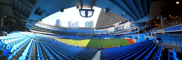 Rogers Center Panorama - Toronto Blue Jays - RF View - Roof Open