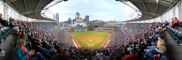 Progressive Field Panorama - Cleveland Indians - Home Plate Game