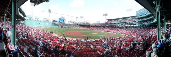 Fenway Park Panorama - Boston Red Sox - Third Base View