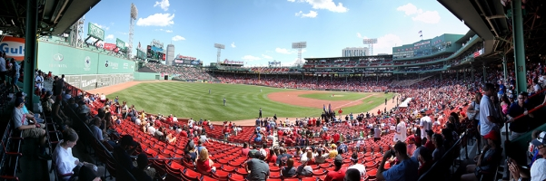 Fenway Park Panorama - Boston Red Sox - Left Field View