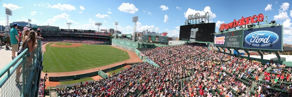 Fenway Park Panorama - Boston Red Sox - Right Field Roof Deck