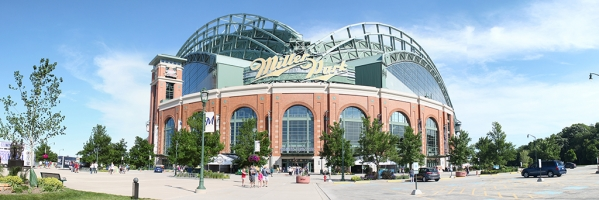 Miller Park Panorama - Milwaukee Brewers - Exterior View