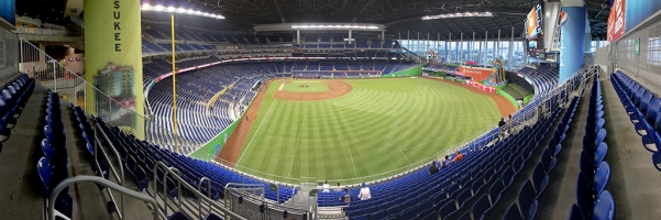 Marlins Park Panorama - Miami Marlins - Home Run Porch from RF