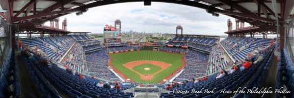 Citizens Bank Park Panorama - Philadelphia Phillies - Home Plate