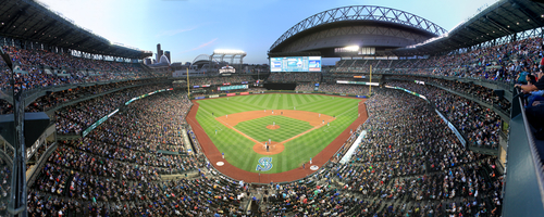 Safeco Field Panorama - Seattle Mariners - Upper Level Front Row