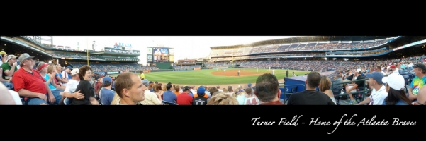 Turner Field Panorama - Atlanta Braves - Visitor's Dugout Day