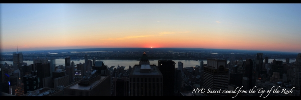 New York City Skyline from the Top of the Rock - Sunset West