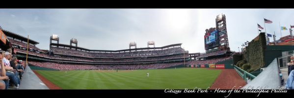 Citizens Bank Park Panorama - Philadelphia Phillies - Outfield