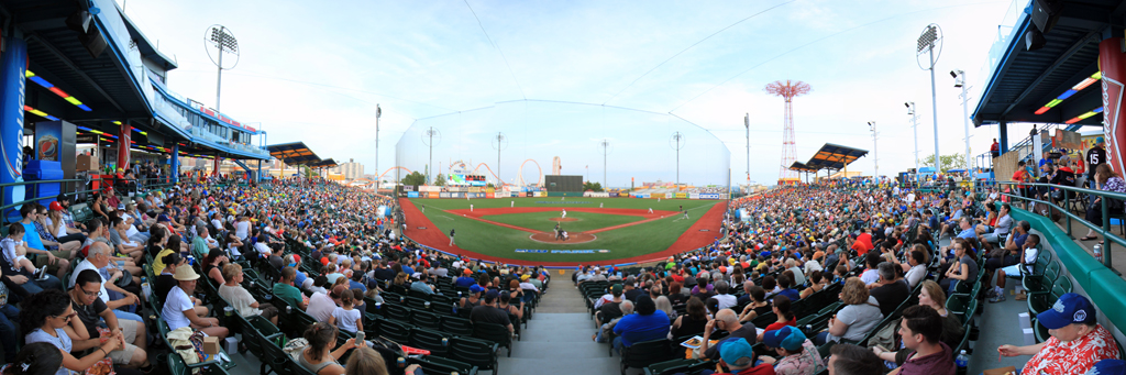 Brooklyn Cyclones MCU Park Panorama with the7Line Day