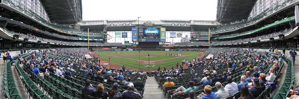 Miller Park Panorama - Milwaukee Brewers - Field Diamond Box