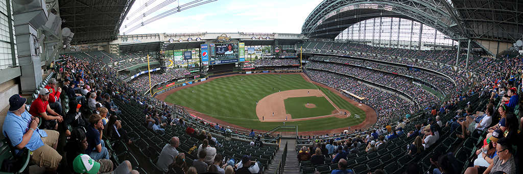 Miller Park Panorama - Milwaukee Brewers - Terrace Reserved 3B