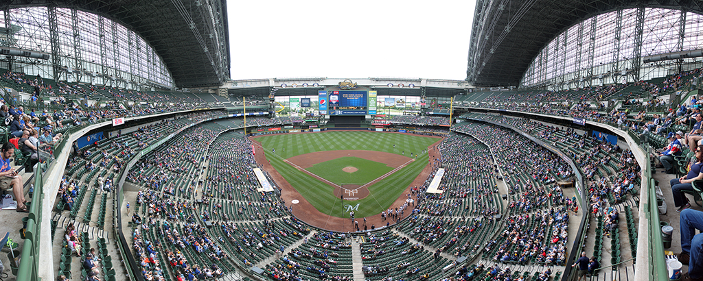 Miller Park Panorama - Milwaukee Brewers - Terrace Box Front Row