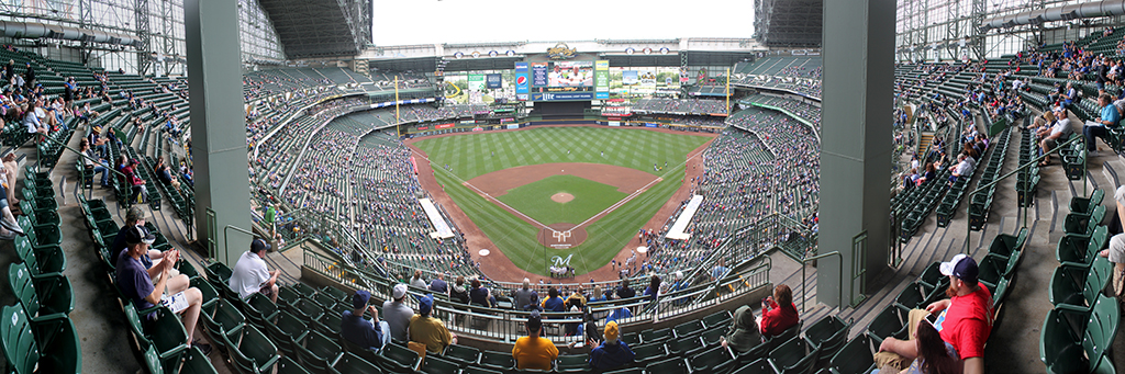 Miller Park Panorama - Milwaukee Brewers - Sect 422 Pre-Game