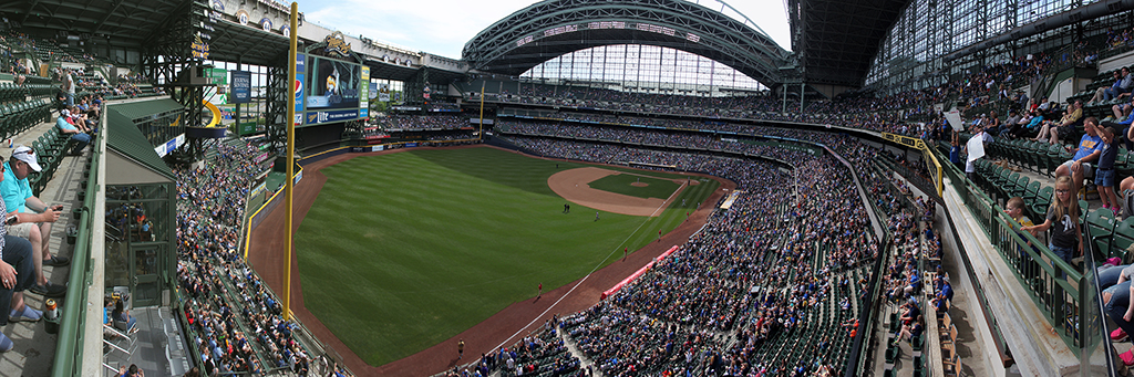 Miller Park Panorama - Milwaukee Brewers - Terrace Left Field