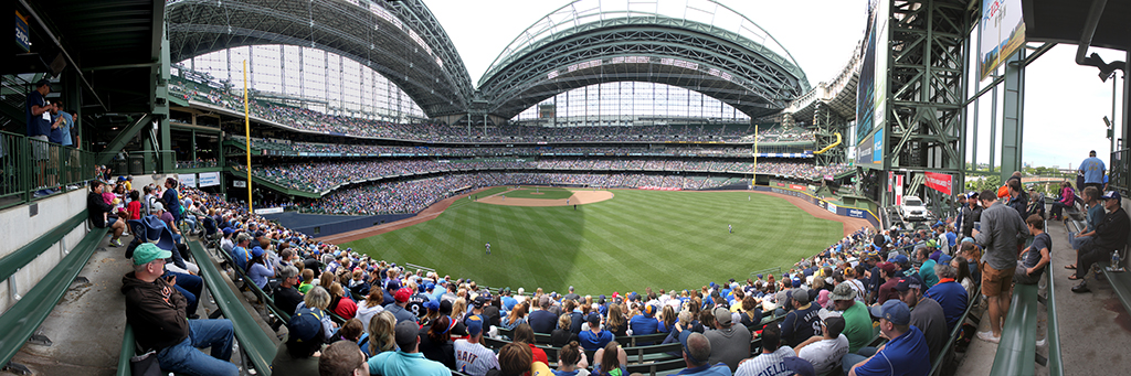 Miller Park Panorama - Milwaukee Brewers - Loge Bleachers