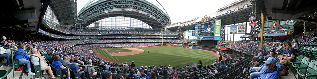 Miller Park Panorama - Milwaukee Brewers - Loge Outfield Box