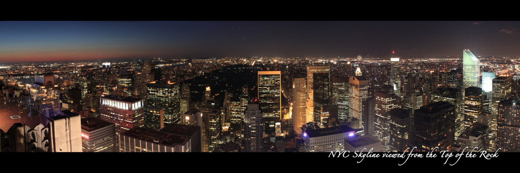 New York City Skyline from the Top of the Rock - Night North