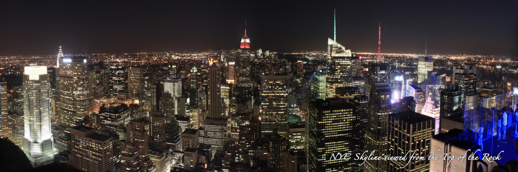 New York City Skyline from the Top of the Rock - Night South