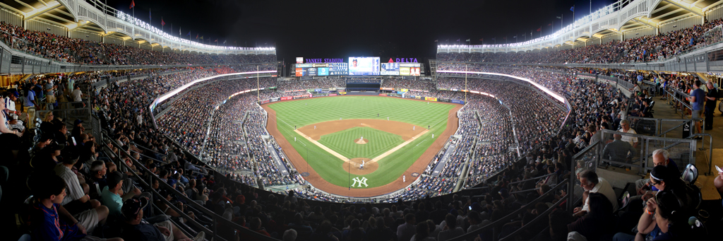 Yankee Stadium Panorama - New York Yankees - Behind Home 320B