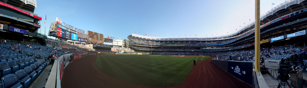 Yankee Stadium Panorama - New York Yankees - LF Foul Pole View