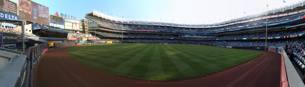 Yankee Stadium Panorama - New York Yankees - LF Bullpen View