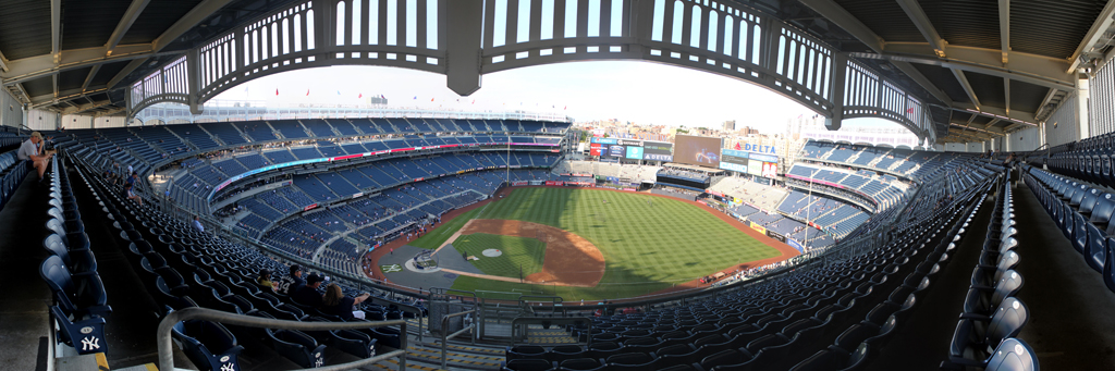Yankee Stadium Panorama - New York Yankees - Grandstand 1B View