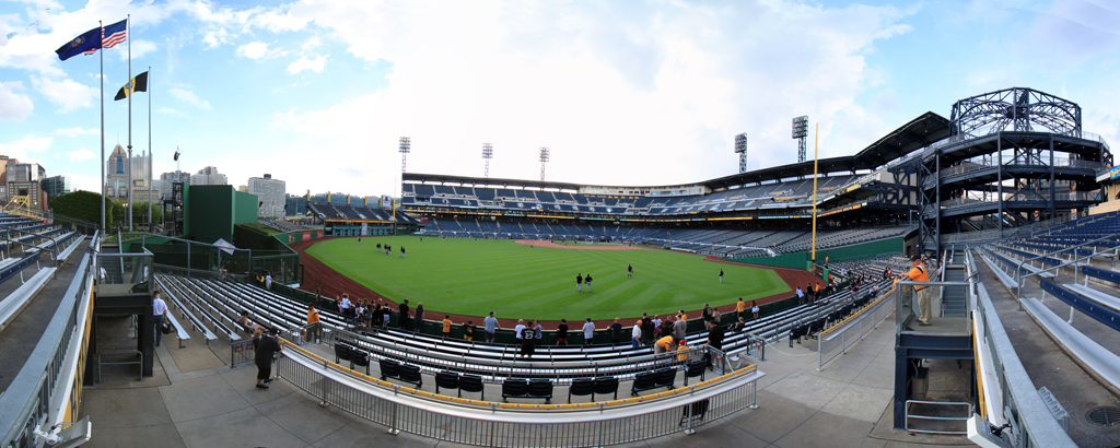 PNC Park Panorama - Pittsburgh Pirates - Center Field Bleachers