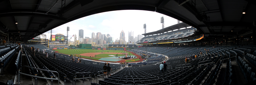 PNC Park Panorama - Pittsburgh Pirates - 3B Infield Box View