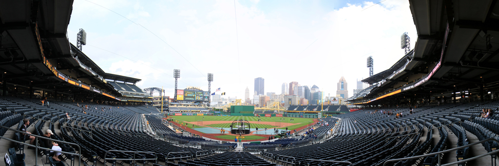 PNC Park Panorama - Pittsburgh Pirates - Infield Box Home Plate