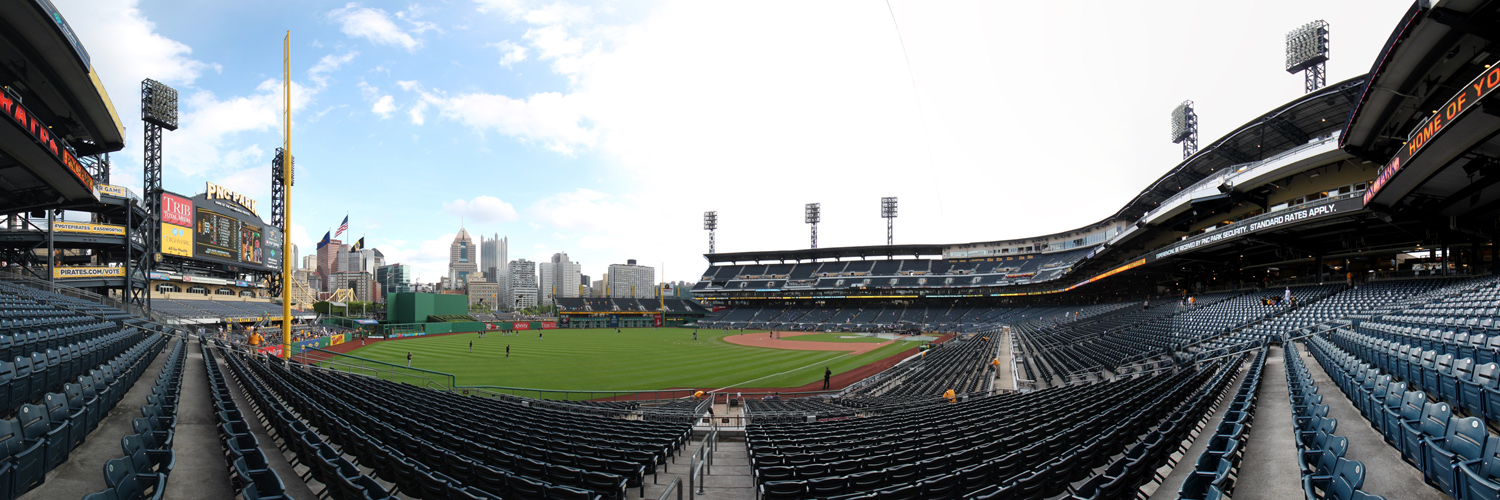 PNC Park Panorama - Pittsburgh Pirates - LF Outfield Box View