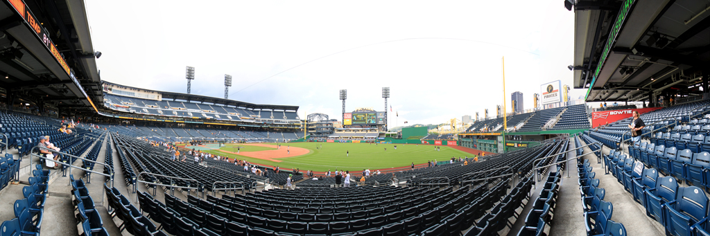 PNC Park Panorama - Pittsburgh Pirates - RF Outfield Box View