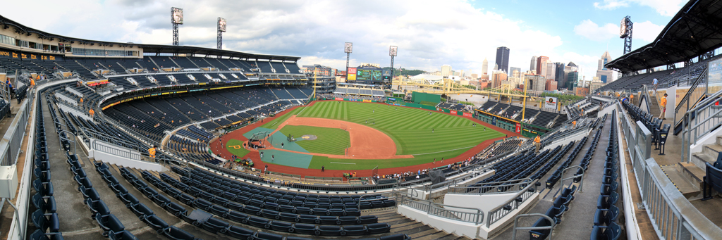 PNC Park Panorama - Pittsburgh Pirates - 1B Upper Grandstand