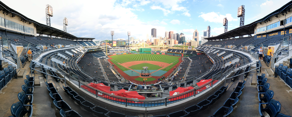 PNC Park Panorama - Pittsburgh Pirates - Grandstand Front Row
