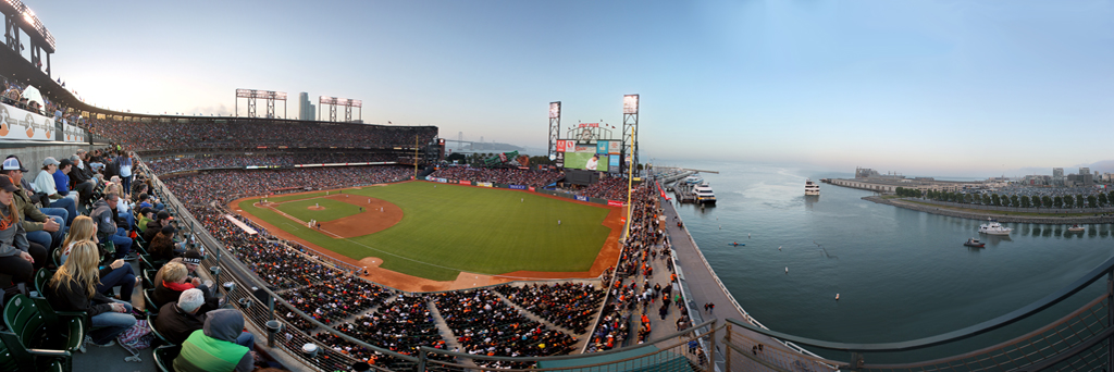 AT&T Park and McCovey Cove Panorama - San Francisco Giants