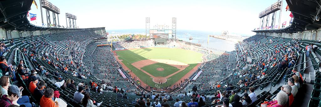 AT&T Park Panorama - San Francisco Giants - Pre-Game Back Row