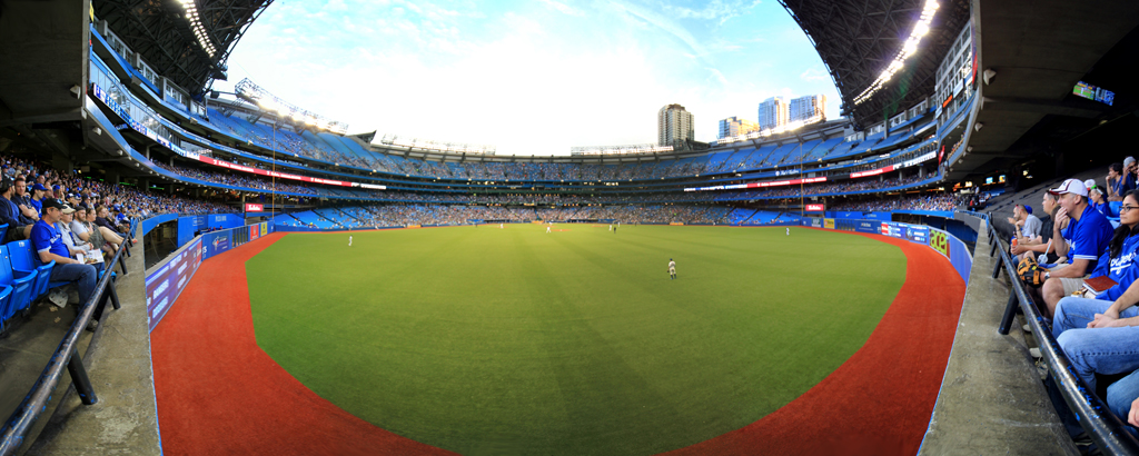 Rogers Center Panorama - Toronto Blue Jays - CF View - Roof Open