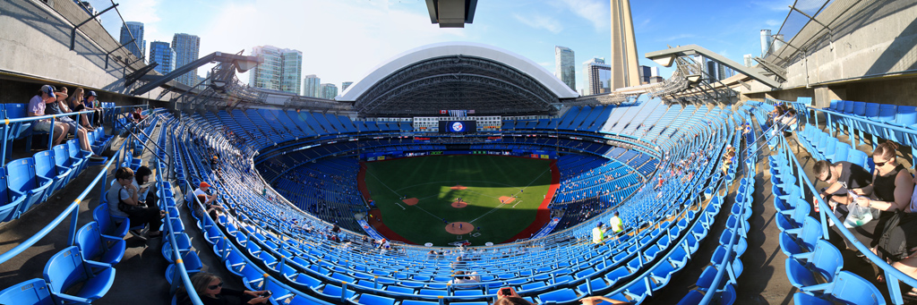 Rogers Centre Panorama - Toronto Blue Jays Back Row Roof Open