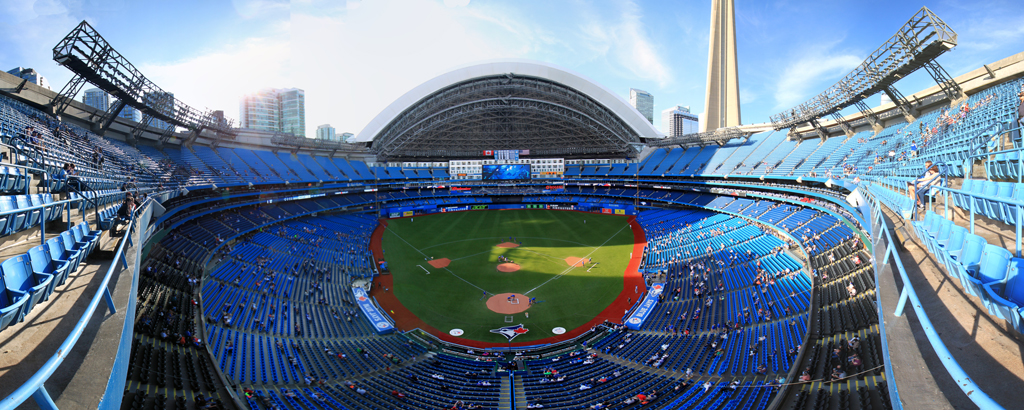 Rogers Centre Panorama - Toronto Blue Jays Front Row Roof Open