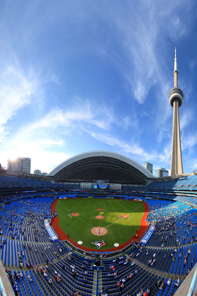 Rogers Centre and the CN Tower - Toronto Blue Jays